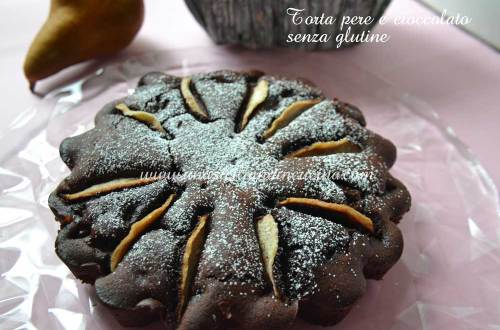 Torta pere e cioccolato senza glutine