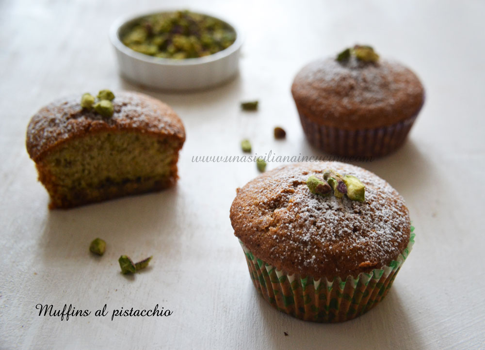 Muffins al pistacchio