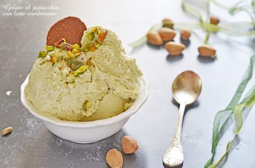 Gelato al pistacchio con latte condensato