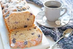Plumcake integrale mirtilli e yogurt senza zucchero