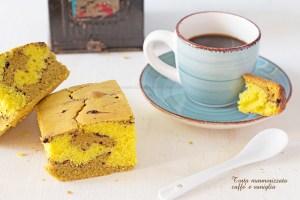 Torta marmorizzata al caffè e vaniglia