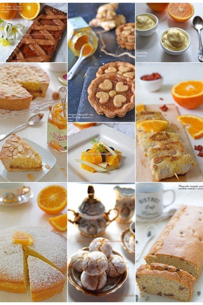 Raccolta ricette con l'arancia