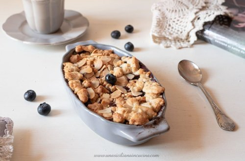 Crumble integrale di mirtilli