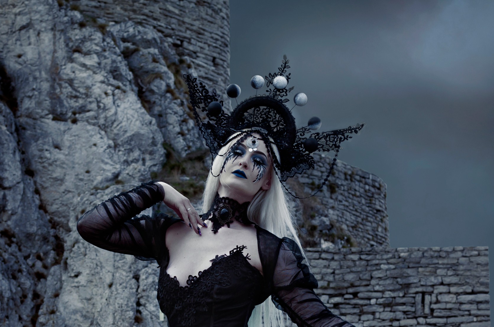 Moon Phase Gothic Victorian Costume Cosplay Halloween