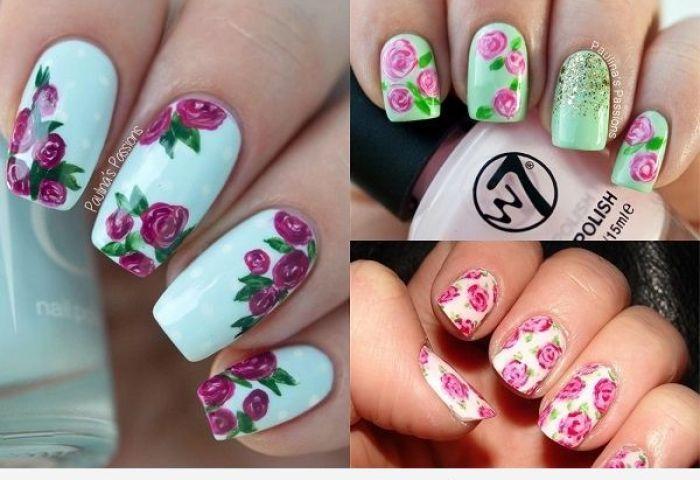 Uñas Decoradas Con Rosas Las Flores Más Románticas En Tus Uñas