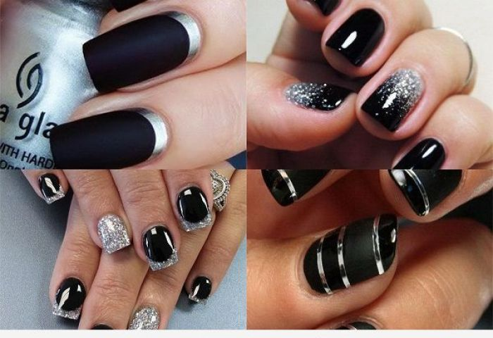 Uñas Pintadas De Negro Decoraciones Oscuras Y Elegantes Uñas Pintadas