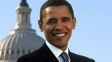眩しい笑顔のオバマ大統領