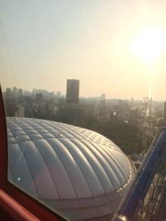 上から観た東京ドーム
