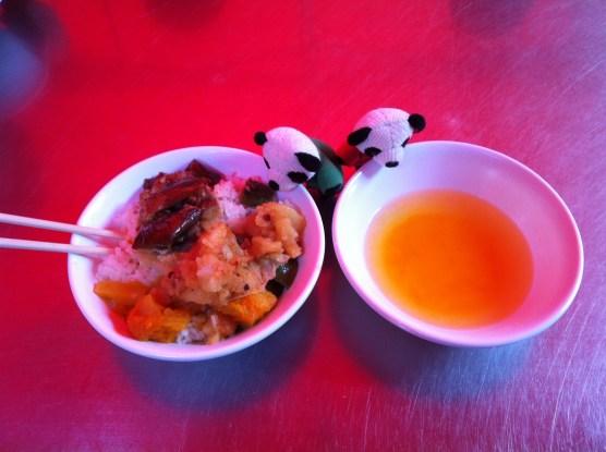 Vegetarian Buddhist meal