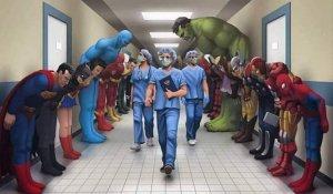 Superherpes salute medical staff