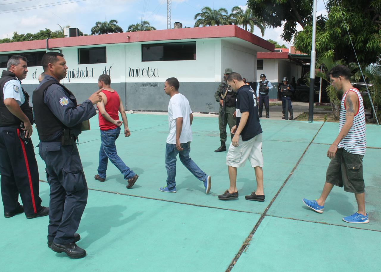 Más de 300reosdePoliCarabobo fueron trasladados a recintos penitenciarios