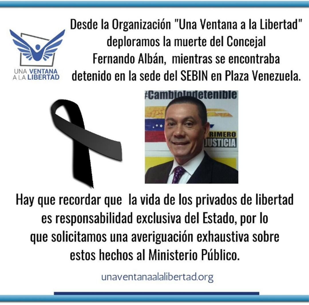 COMUNICADOANTE LA MUERTE DEL CONCEJAL FERNANDO ALBÁN