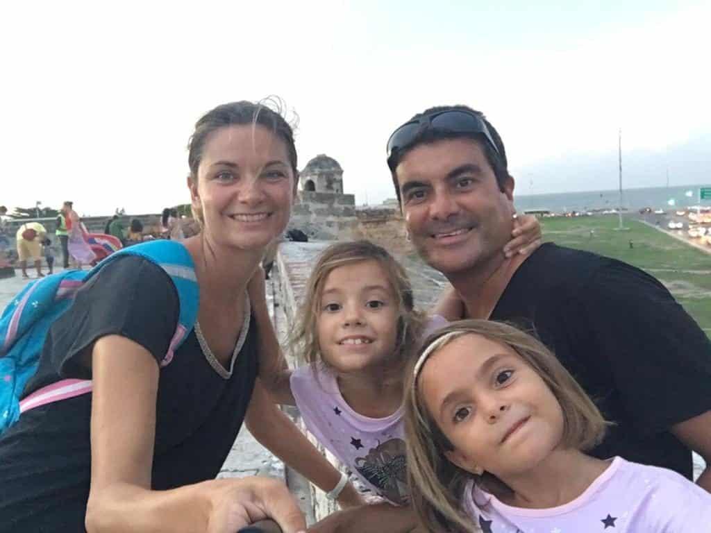 Foto de Familia en la muralla de Cartagena.