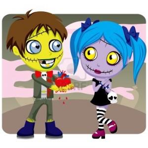 saint valentin zombie coeur