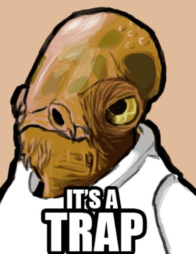 its a trap meme