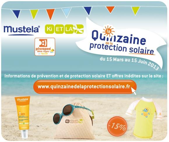 quinzaine protection solaire avec ki et la mustela papiwee