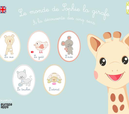 application Sophie la girafe les cinq sens