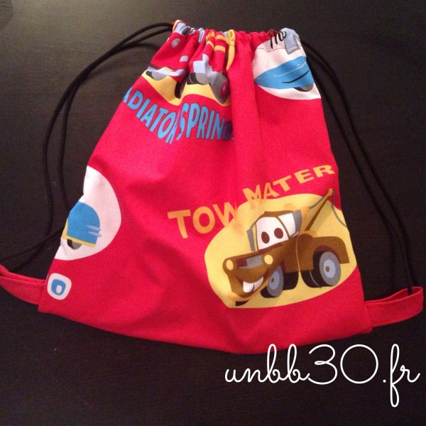 sac à dos cars DIY