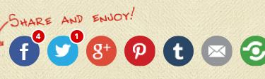 icônes de partage réseaux sociaux
