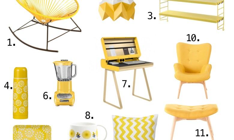 Selection déco jaune