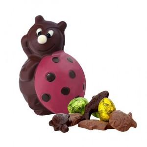 Coccinelle en chocolat noir deneuville