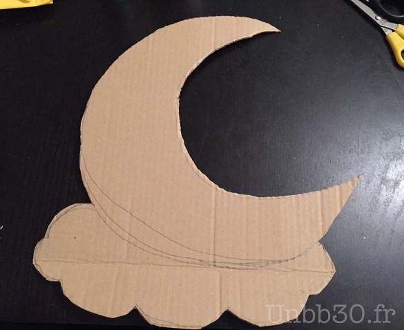 DIY calendrier de l'avent réversible lune