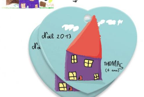 décorations de noel personnalisée dessin enfant