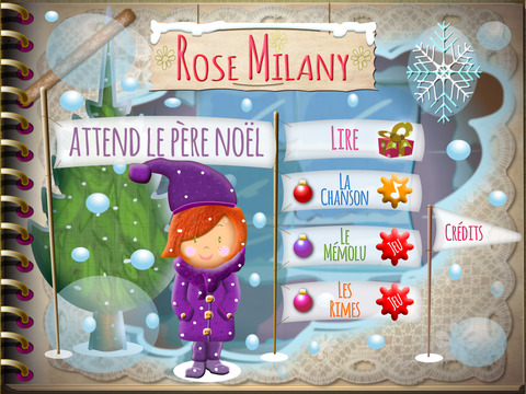 rose milany attends le père noel