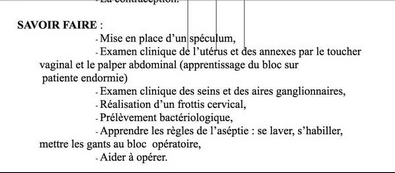 extrait document faculté de Lyon touchers vaginaux sur patientes endormies