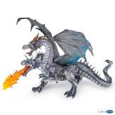 dragon deux tete argenté papo