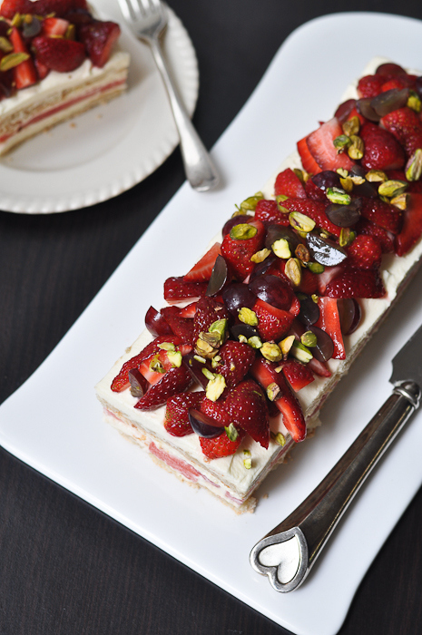 watermelon strawberry cake