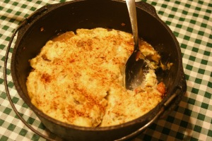 Dutch oven Shepherds pie