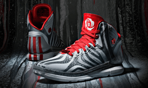 Black and Red D rose shoes