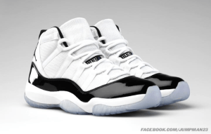 Air Jordans 11 black and white