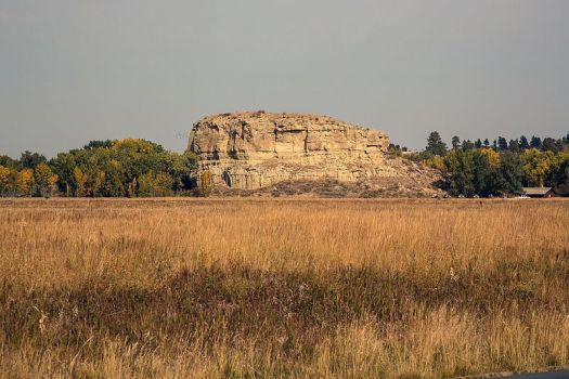 Pompeys Pillar in Montana