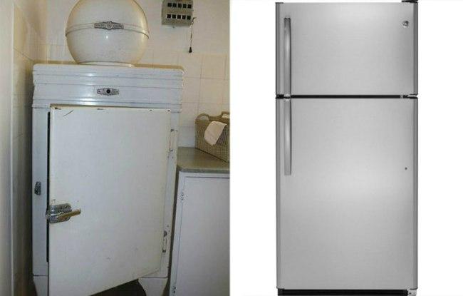 أبواب الثلاجة القديمة والجديدة