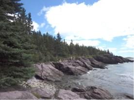 Scenic rocky shore