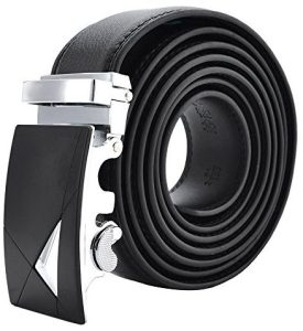 """VRLEGEND Men's Belt Genuine Leather Ratchet with Automatic Buckle Extra Long 63""""(160cm) Adjustable for Big and Tall"""
