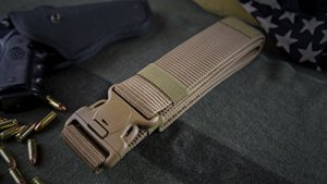 """Nylon Tactical Operator Duty Belt 2.0"""" Super Duty Web Belt - Thick Single Layer Reinforced - Quick Clasp Buckle - For Concealed Carry EDC Holsters Pouches Security Military Wilderness"""