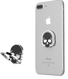 Urberry Phone Ring Stand Holder, Skull Printed Adjustable Universal Smartphones Grip Kickstand Holder