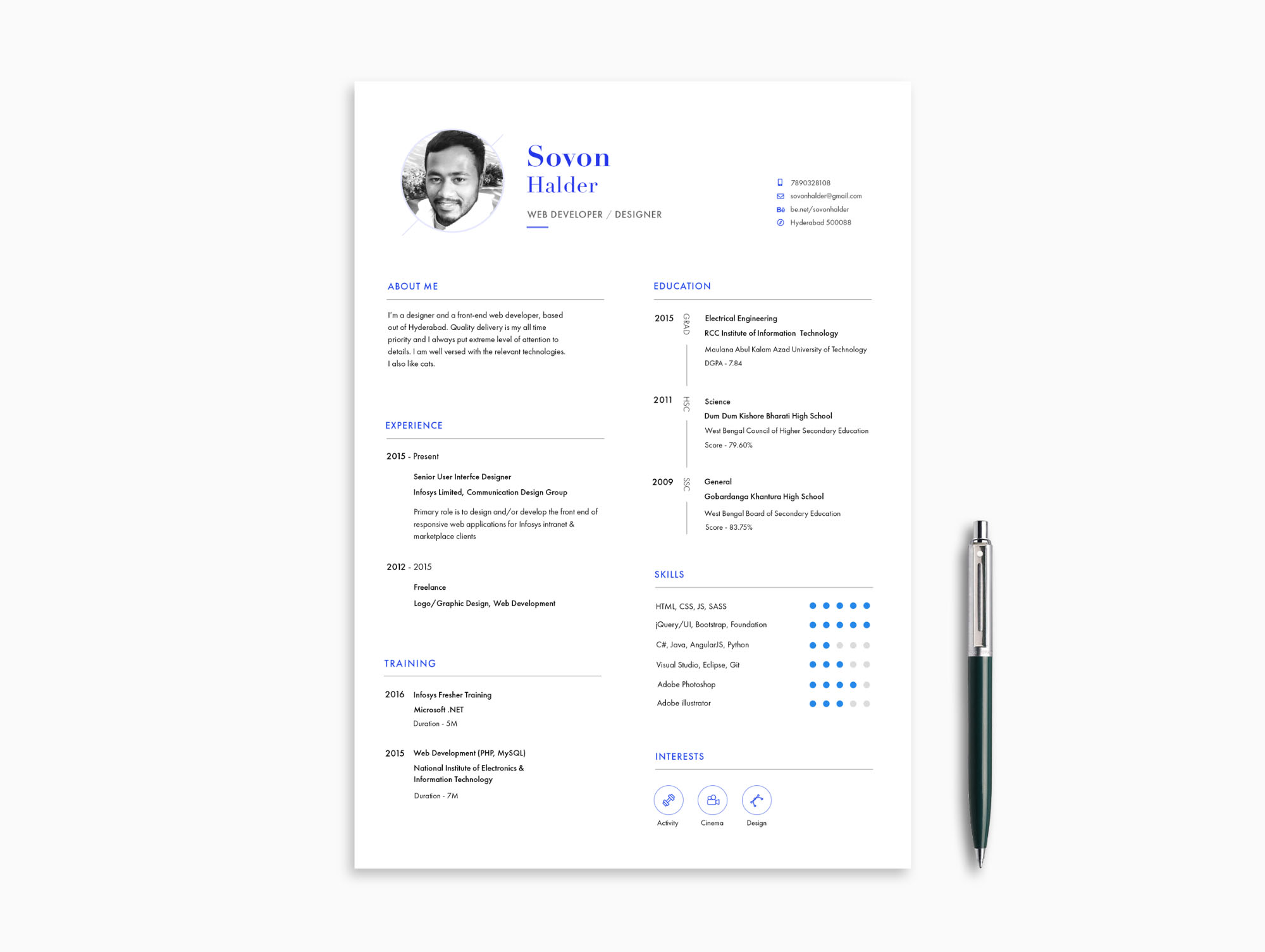 This collection includes freely downloadable photoshop f ormat curriculum vitae/cv, resume and cover letter templates in minimal, professional and simple clean style. Minimal Resume Template Psd Ai Pdf