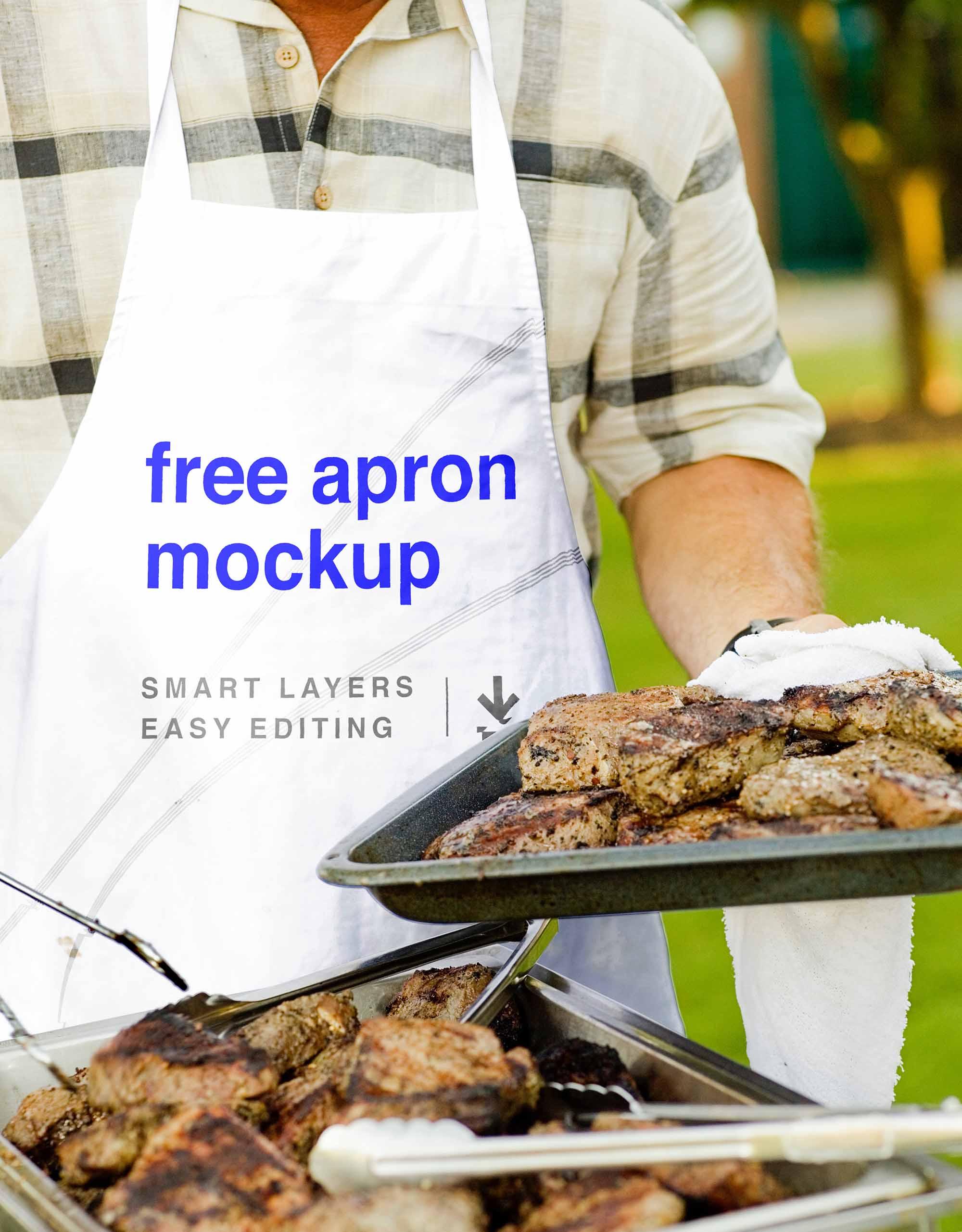 Read more » by monol Free Photo Realistic Apron Mockup Psd