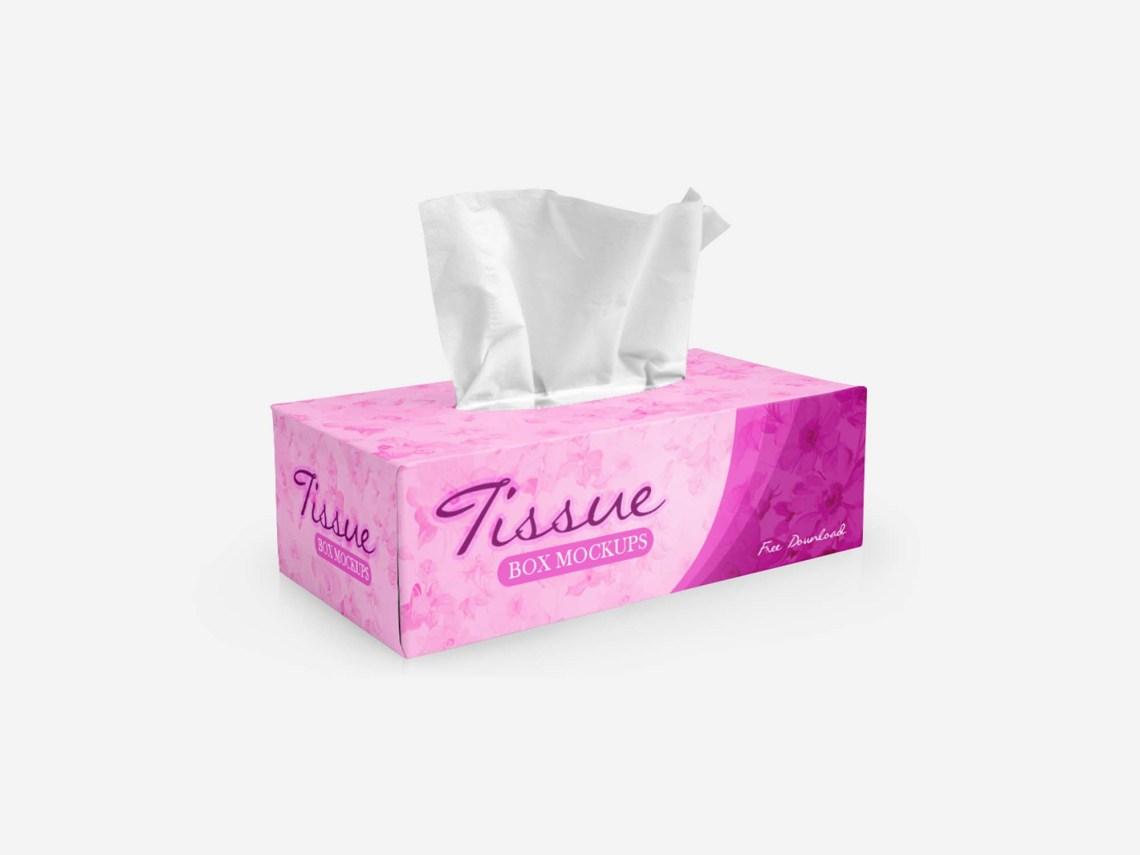 Download Free Tissues Box Mockup (PSD)