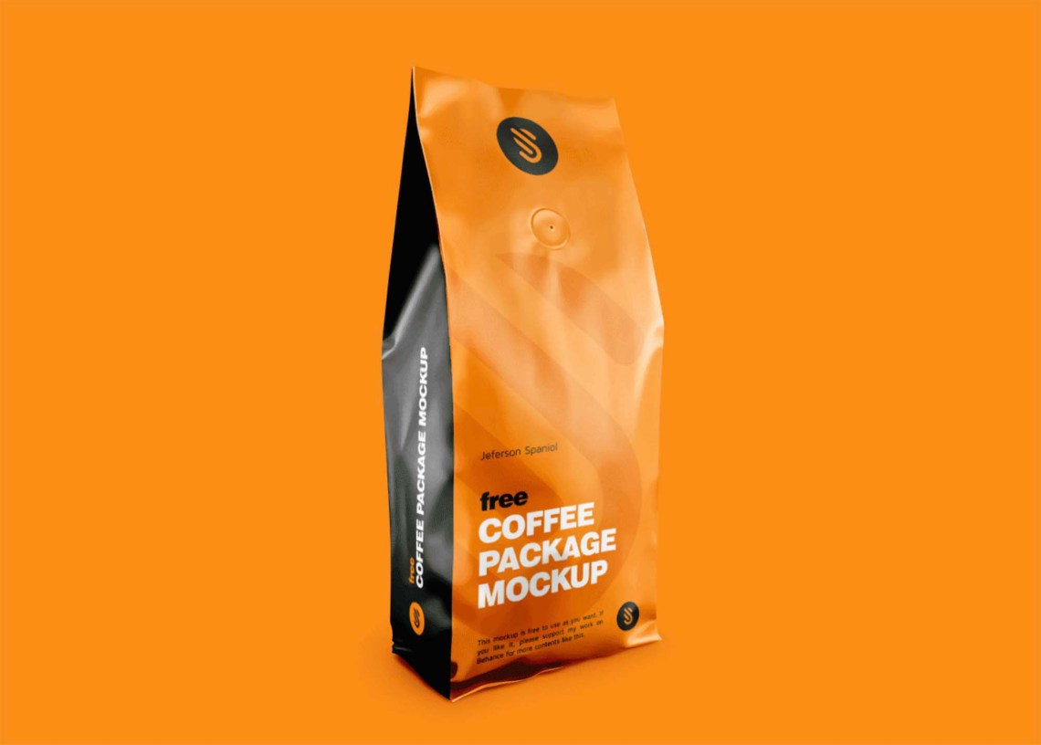 Download Free Coffee Package Mockup (PSD)