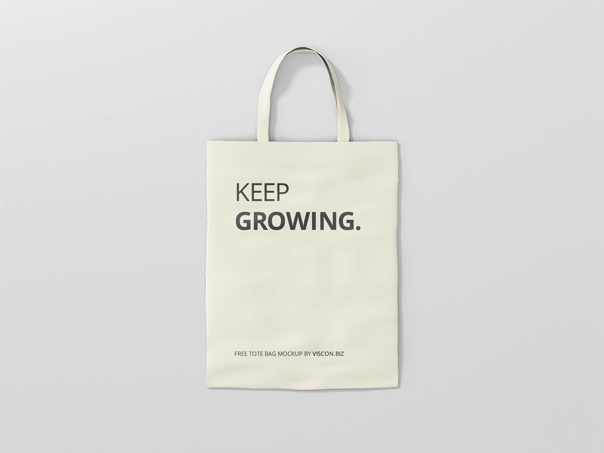 An elegant psd tote bag mockup to showcase any branding designs. Free Tote Bag Mockup Psd