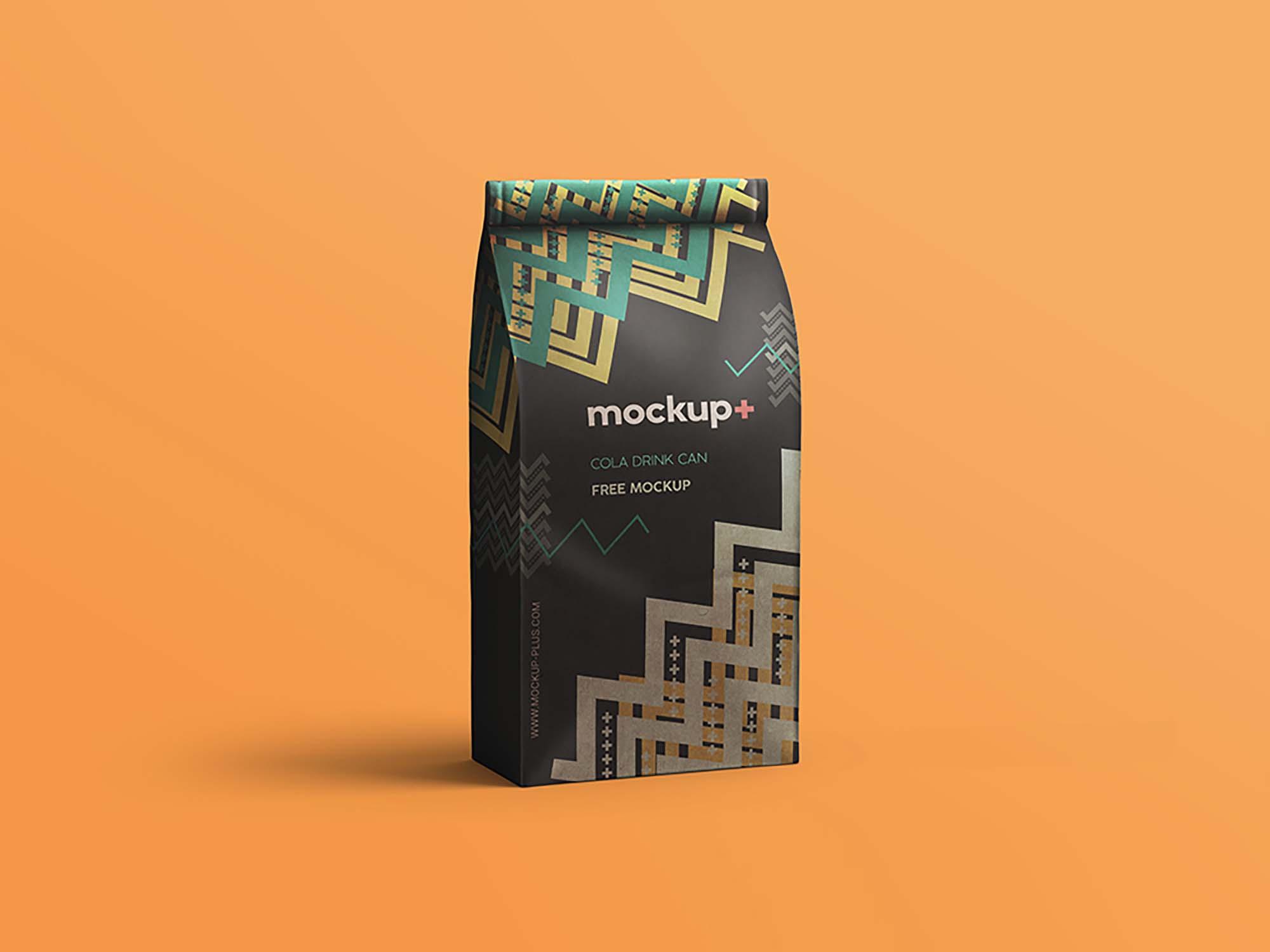 Get this great food bag mockup now! Free Coffee Bag Mockup Psd
