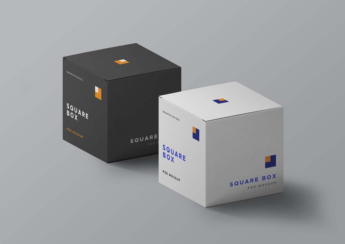 Download Free Square Box Mockup (PSD)
