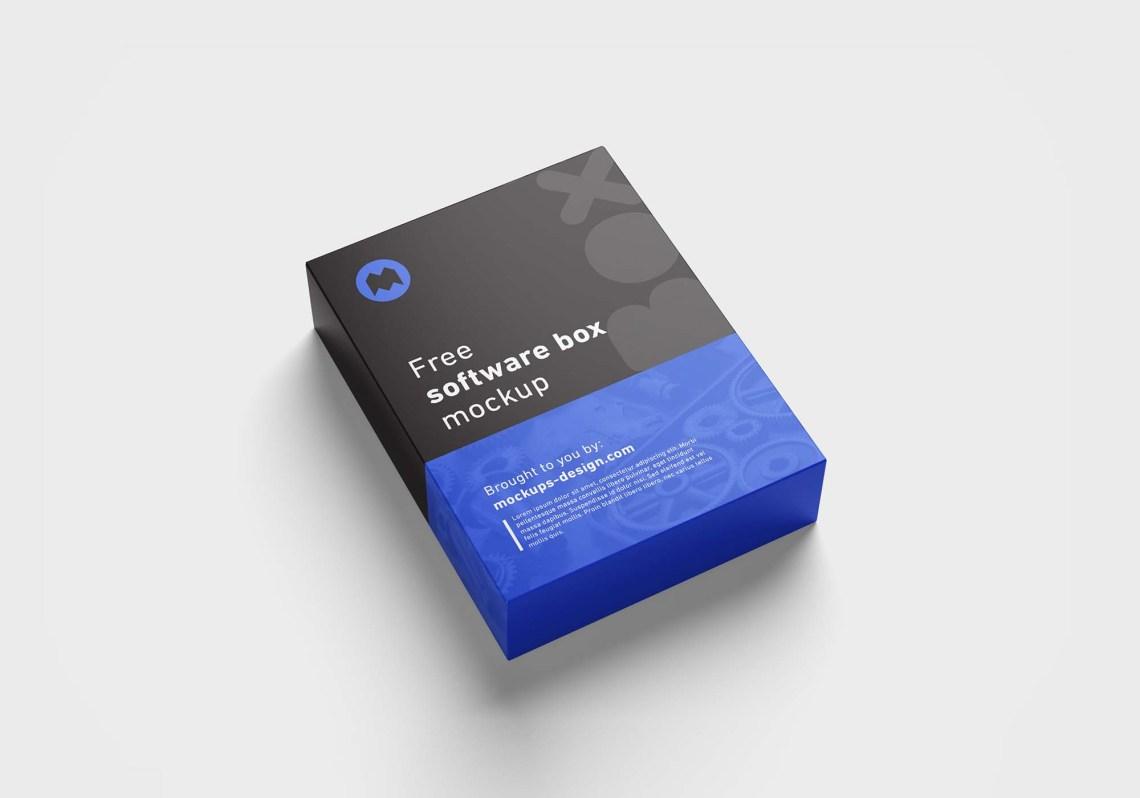 Download Free Software Box Mockup (PSD)