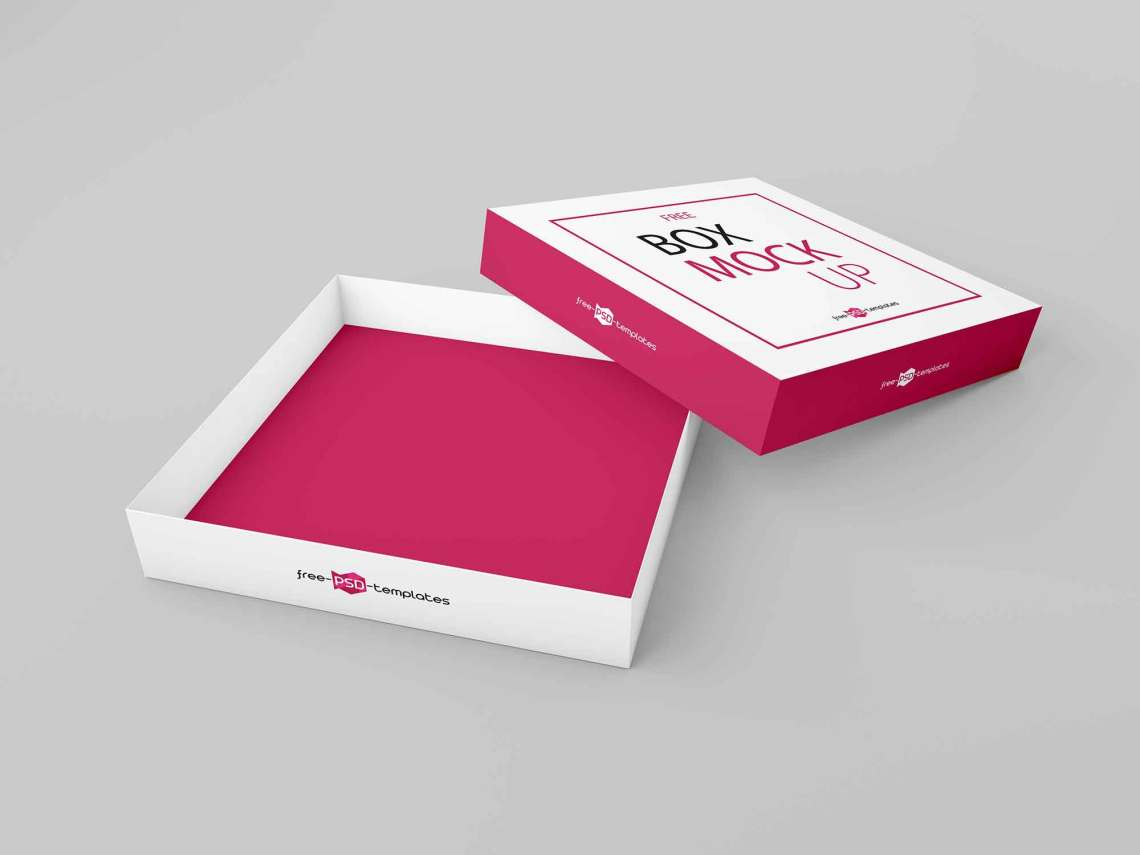 Download Free Thin Square Box Mockup (PSD)
