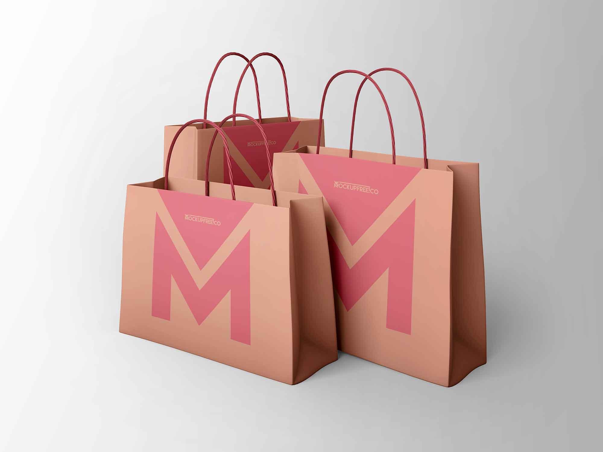 Free 19+ psd paper bag mockups in psd | indesign | ai. 3 Paper Bags Mockup Psd